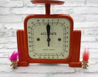 Vintage Orange Western Germany Accurate Scale Retro Kitchen Tools Decor Cute Bright Home