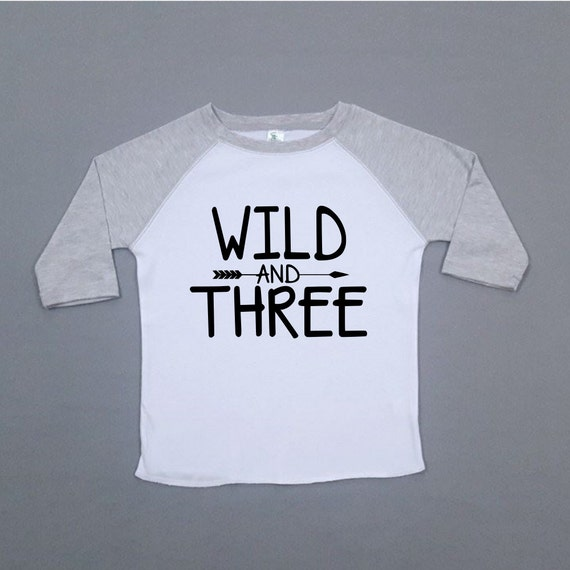 b8d2aa42c15 Wild and Three Birthday Shirt Third Birthday Cute Boy