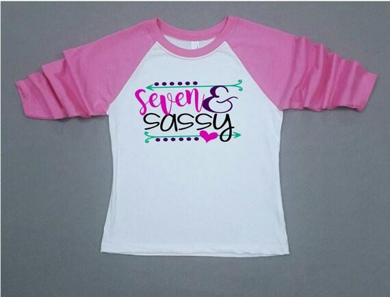 Seventh Birthday Shirt Sassy Seven 7th