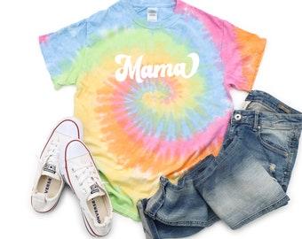 Mama Tie Dye Retro Shirt