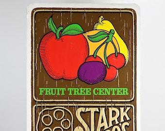 Vintage Stark Bros. Sign, Stark Bros. Nursery Metal Sign, Vintage Metal Sign, Old Advertising Sign, Vintage Wall Decor, MidCentury Wall Art