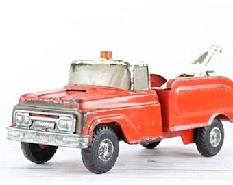 Vintage Buddy L Tow Truck Vintage Tonka Truck 1950's Tonka Truck Red And White Tonka Tow Truck Vintage Toy Truck Old Tonka Truck Vintage Toy