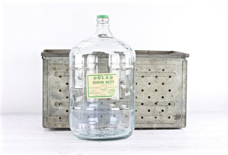Vintage 5 Gallon Glass Water Bottle Polar Drinking Water Etsy