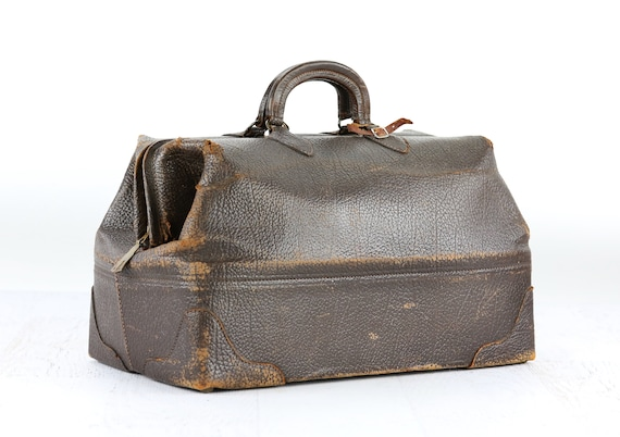 Vintage Leather Gym Bag, Vintage Doctor Bag, Vinta