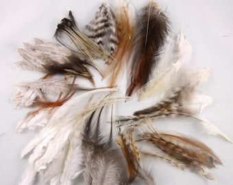 100 Feathers assorted Natural Mix 3 to 6 inches craft feathers dream catcher fly tying
