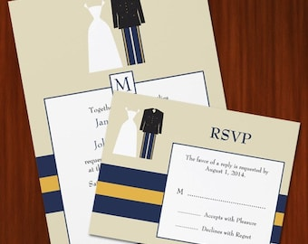 Army Wedding Invitation Set - PRINTABLE DIY