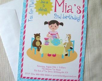 Tea Party Birthday Invitation - DIY Printable