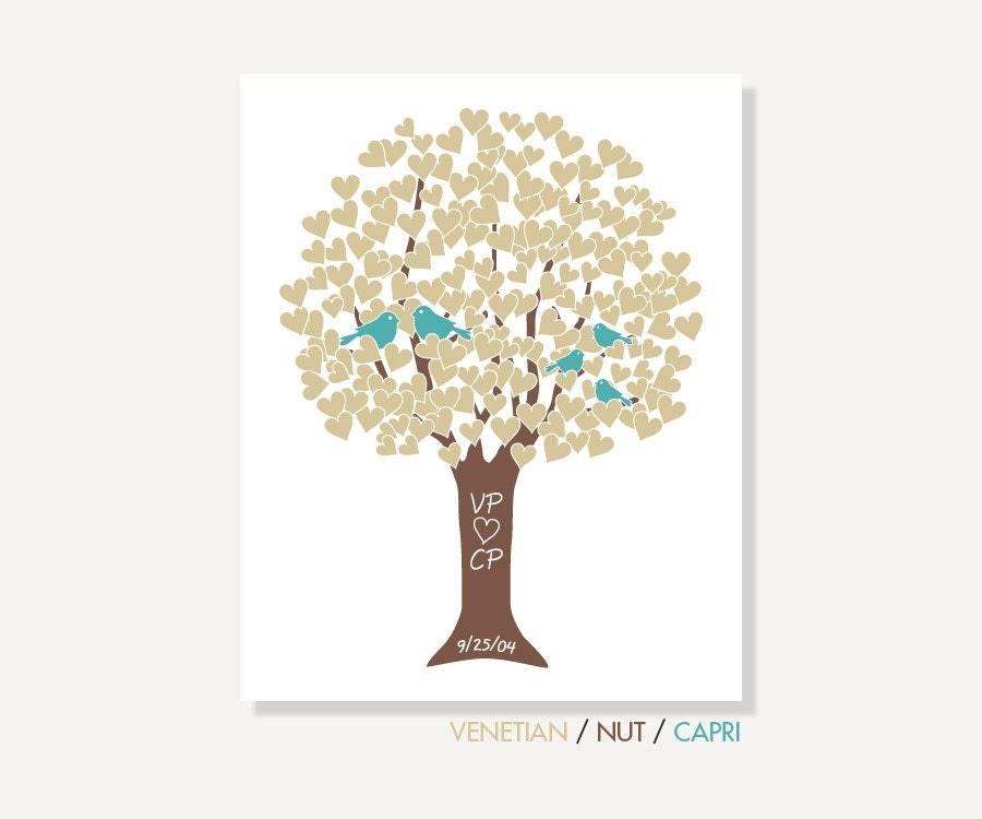 Family Tree Wedding Gift: Mothers Day Personalized Golden Wedding Anniversary Gift