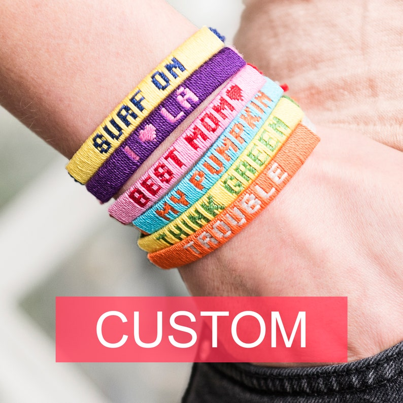 CLASSIC Personalized friendship bracelets with names / image 0