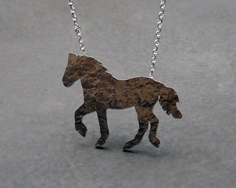 Sterling silver horse necklace. MADE TO ORDER.