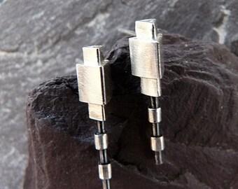 Sterling silver stud earrings. Silver post earrings. Silver jewellery. Handmade