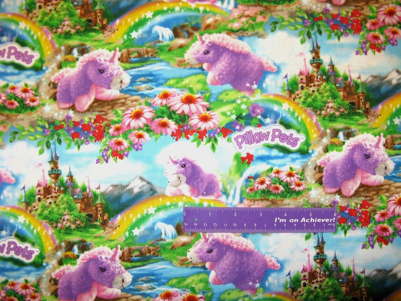 Pillow Pets Cloud Star Sky Unicorn Dalmation Frog Cotton Fabric BY THE HALF YARD