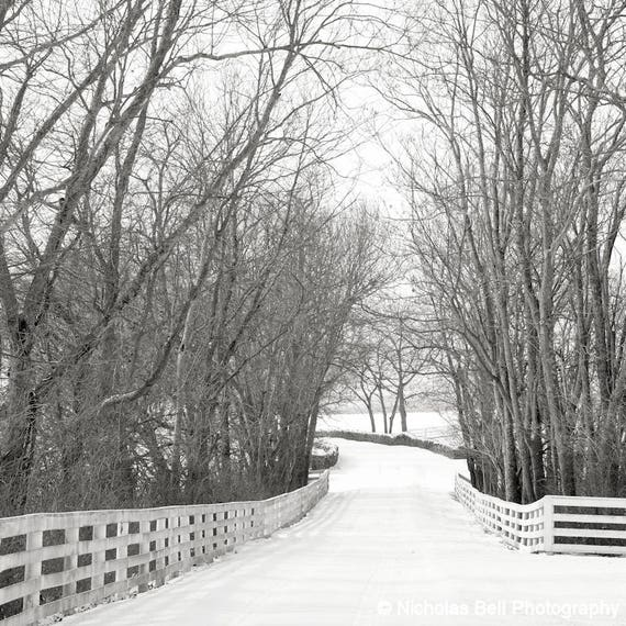 winter photography, winter landscape print, landscape photography, snow, black and white photography, winter print, rustic, farmhouse