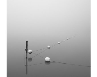 minimalist black and white photography, modern lake house decor, lake photography, minimalist nautical art, minimal black and white