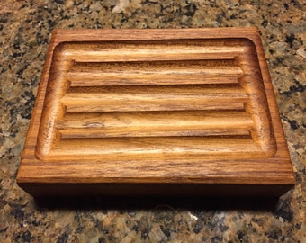 Natural Teak, Caoba Or Maple Wood Handcrafted Soap Savers / Soap Deck