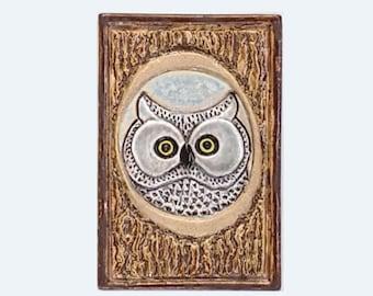 Tree Owl Arts and Crafts MUD Pi Decorative Handmade 4x6 Ceramic Tile