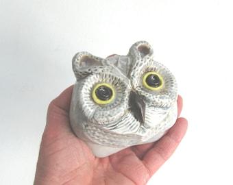 Rockefeller Owl face MUD Pi Mini Wall Art Face Sculpture