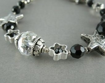 Black Starshine Bracelet Set