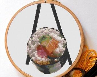 Sushi Cross Stitch Patern