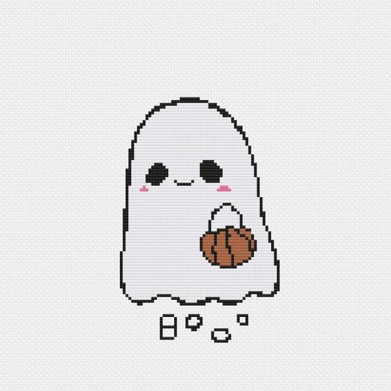 Easy Halloween Cross Stitch Pattern
