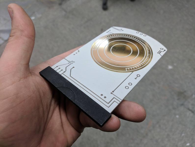 Metal Death Star Plans Data Card  Rogue One  BONUS Free image 0