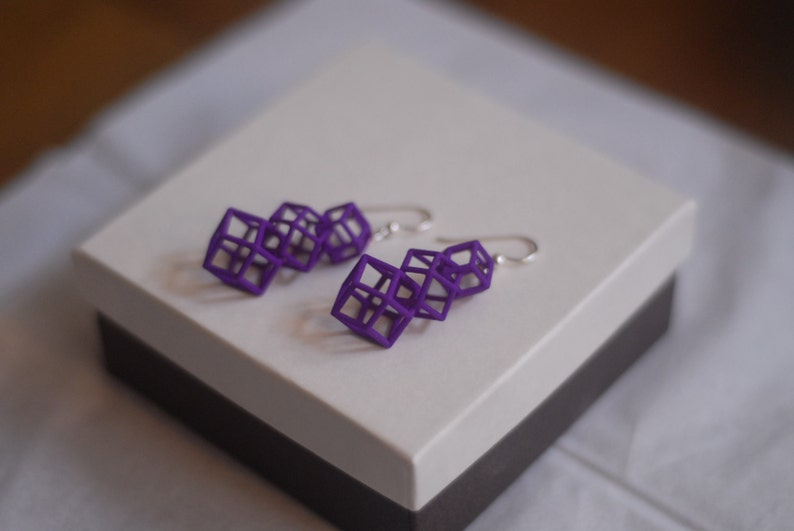 Rhombic Dodecahedron earrings image 0