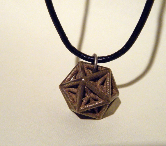 3D Printed Jewelry Softened Star Stellated Dodecahedron Earrings