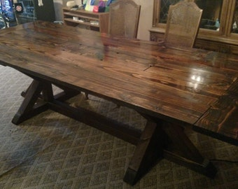 Work and Dining table with recessed pocket for power bar and storage
