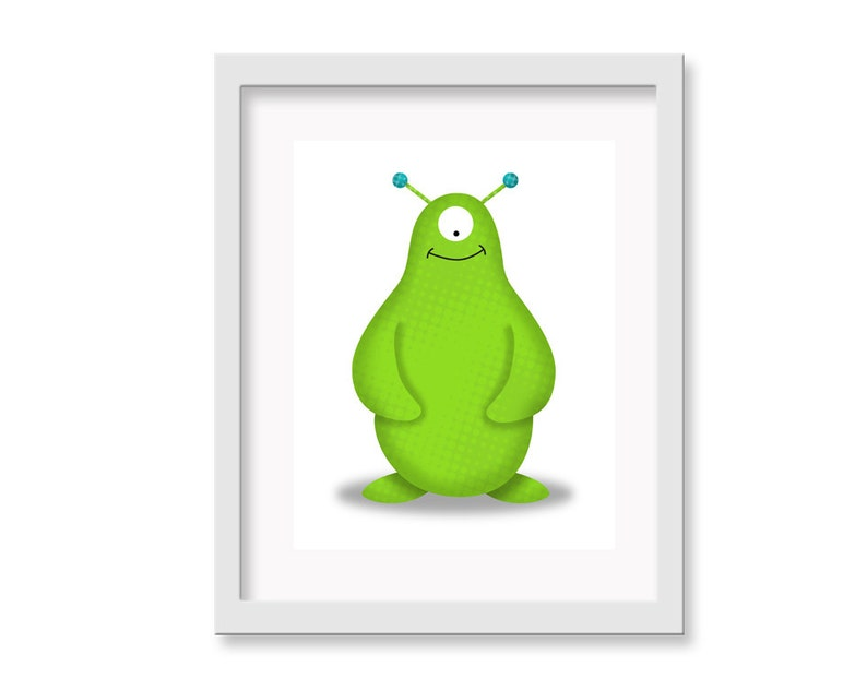 Monster / Alien Nursery Art Nursery Decor Kid Wall Art image 0