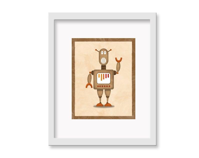 Robot Print Claud  11 x 14 image 0