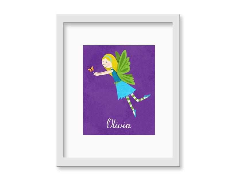 Personalized Fairy   Children's Decor Nursery Wall Art  image 0