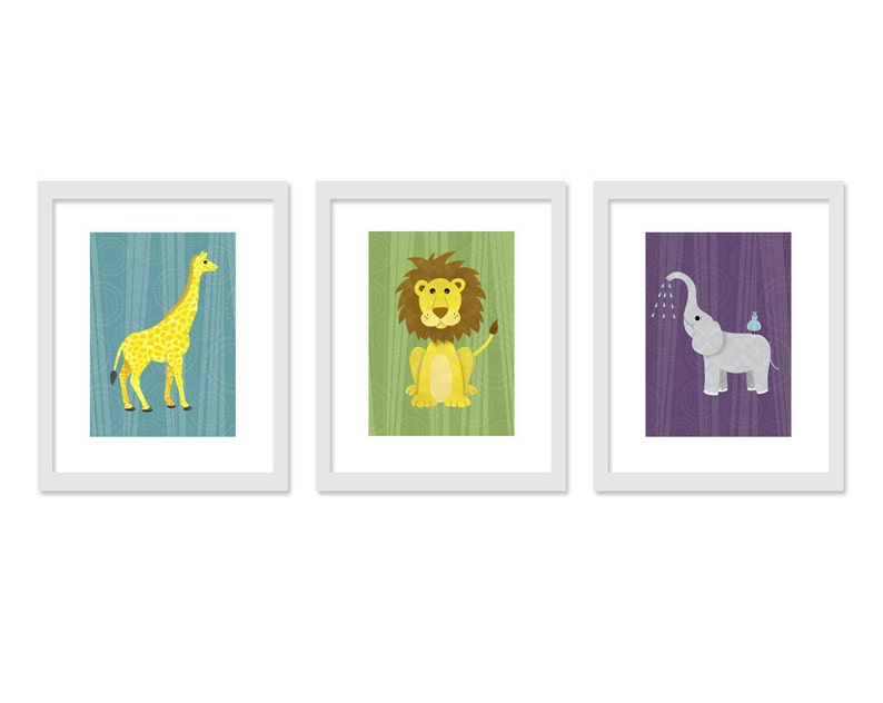 Jungle Safari Children Kids Nursery Room Wall Decor  Retro image 0