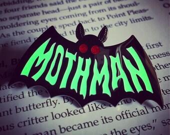 Mothman Symbol ENAMEL PIN - Cryptozoology Tracking Society