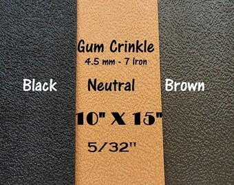 Shoe Rubber, Gum Crinkle Sole Rubber, 4.5 mm Rubber Sheet, Shoe Making Supplies, SoleTech Rubber, Outdoor Shoe Supplies