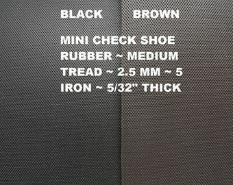 Shoe Sole Supplies, Sole Tech Rubber,  2.5 mm Mini Check Shoe Rubber, 9 X 12 Rubber Sheet, Shoe Soling Rubber, Outdoor Shoe  Sole Supplies