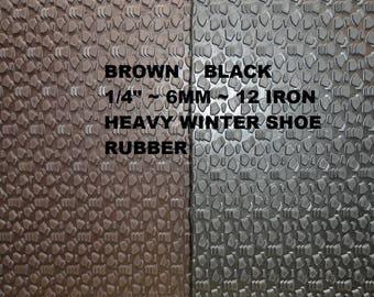 Shoe Rubber, Shoe Making Supplies, 6 mm Sole Tech Rubber, Shoe Sole Rubber, Winter Soling Sheet, Outdoor Shoe Supplies