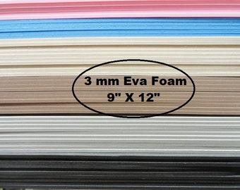 Eva Foam, 3mm Foam Insole Shoe Padding, Shoe Cushion, One Sheet 9 X 12, Shoe Making Supplies, Cosplay