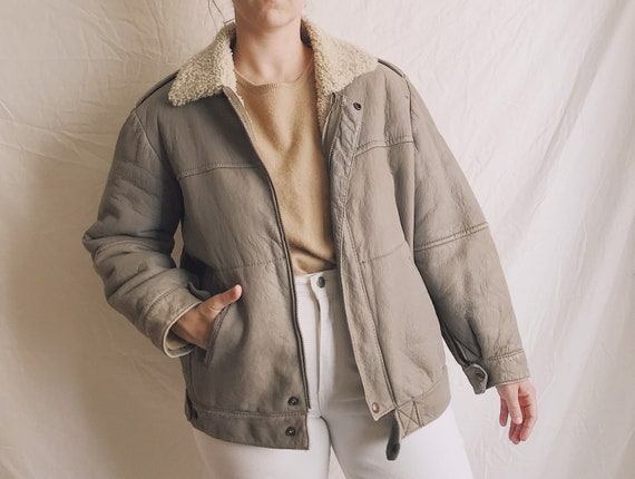 1970s Shearling Leather Jacket