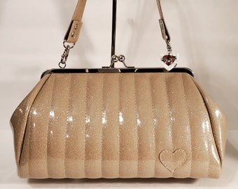 Champagne Sparkle Vinyl Purse - MADE TO ORDER