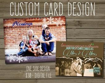 Custom Card Design - Single Sided Graduation, Baby Shower, Bridal Shower, Dinner Party, Wedding Stationary
