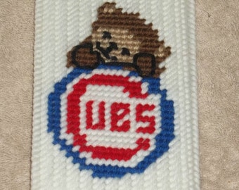 Cubs Checkbook Cover Plastic Canvas Pattern