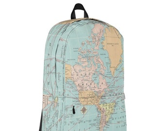 World map backpack | Etsy