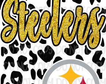 Instant Download Steelers Leopard Spirit Design Sublimation PNG