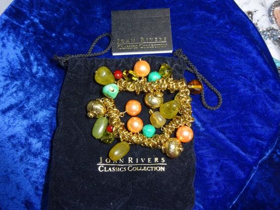 Vintage Joan Rivers beaded bracelet , Joan Rivers