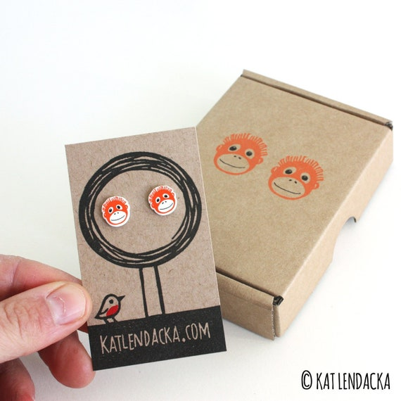 orangutan earrings