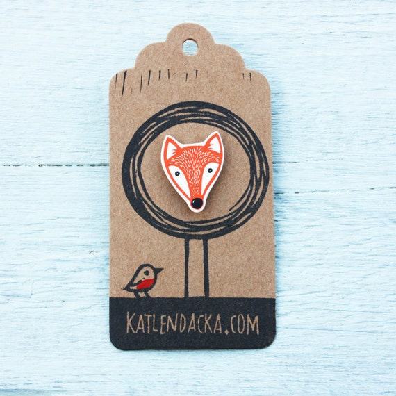 fox pin - free postage in the UK