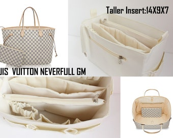Extra taller   diaper bag organizer for Louis vuitton Neverfull GM - Purse  organizer insert with 2 divider zipper and laptop compartment dc12db7b78159
