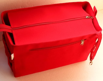 a6354d212041 Diaper and Taller Purse organizer for Louis Vuitton Neverfull MM with Zipper  closure- Bag organizer insert in Red
