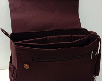 Extra large Purse organizer with magnetic snap closure and laptop - Bag organizer insert