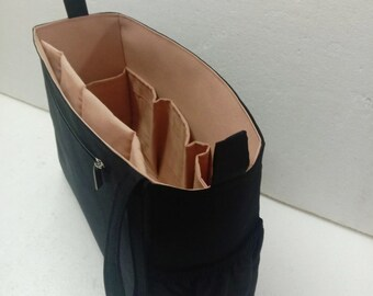 XL Bag organizer- Bag 13.5wide x 9.5 height x 4.5 deep -Black color